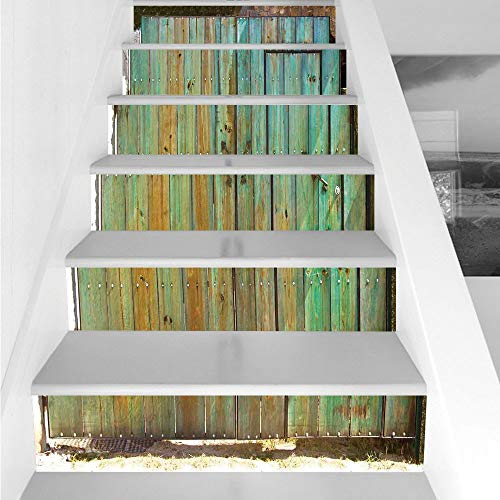 Stair Stickers Wall Stickers,6 PCS Self-adhesive,Vintage,Rus