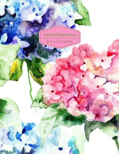 Dotted Notebook: Floral Pattern Design Dot Matrix / Dot Grid