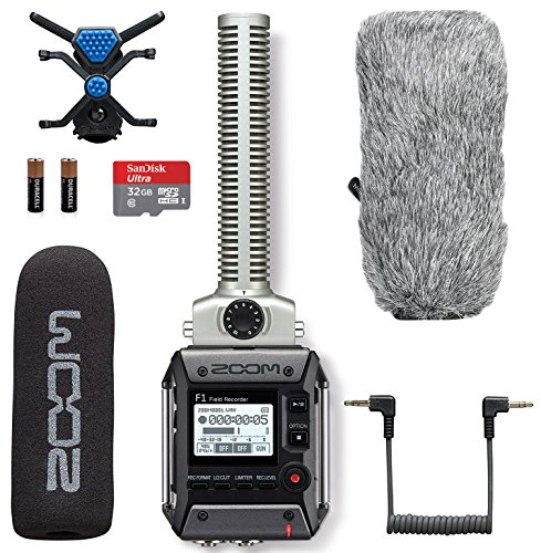 Zoom F1-SP Field Recorder & Shotgun Microphone Bundle with Deadcat Windscreen & 32GB Micro SDHC Card