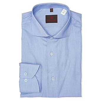 Louis Feraud Blue Shirt Neck Shirts For Men