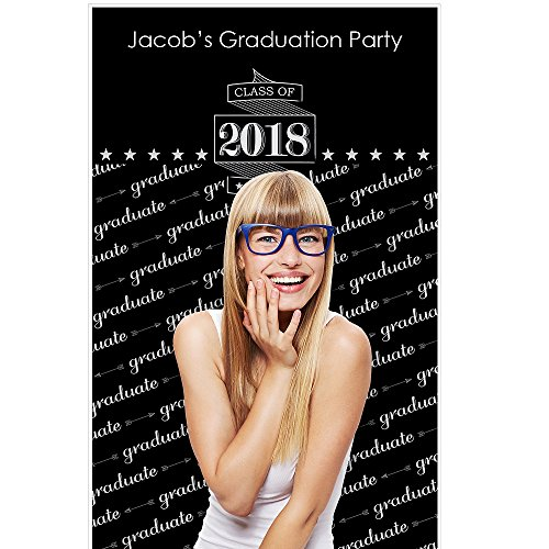 Personalized Photo Booth Backdrop (Custom Graduation Cheers - Personalized 2018 Graduation Party Photo Booth Backdrops - 36