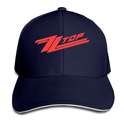 zztop-unisex-100-cotton-adjustable-trucker-cap-navy-one-size