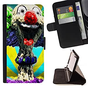 - Clown Evil Joker - - Premium PU Leather Wallet Case with Card Slots, Cash Compartment and Detachable Wrist Strap FOR Sony Xperia Z2 L50t L50W L50U King case