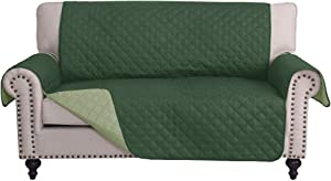 RHF Reversible Loveseat Covers for Dogs, Couch Covers for Dogs, Loveseat Cover for Dogs,Pet Cover for Loveseat, Loveseat Slipcover&Love Seat Couch Covers, Machine Washable(Loveseat: Huntergreen/Sage)