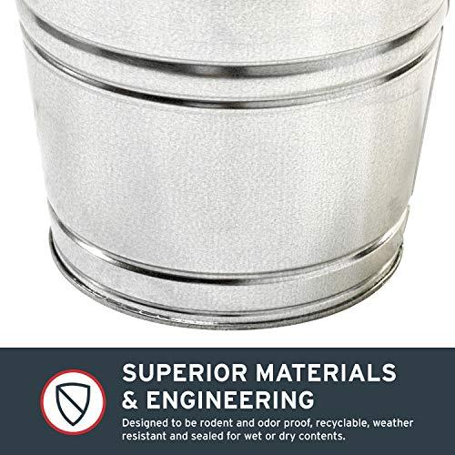 Behrens 1210GS 10-Quart Galvanized Steel Pail