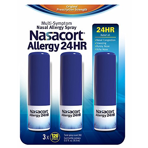 Nasacort Allergy 24-Hour Spray, 3 pk./0.57 oz. (pack of 2) by Nasacort