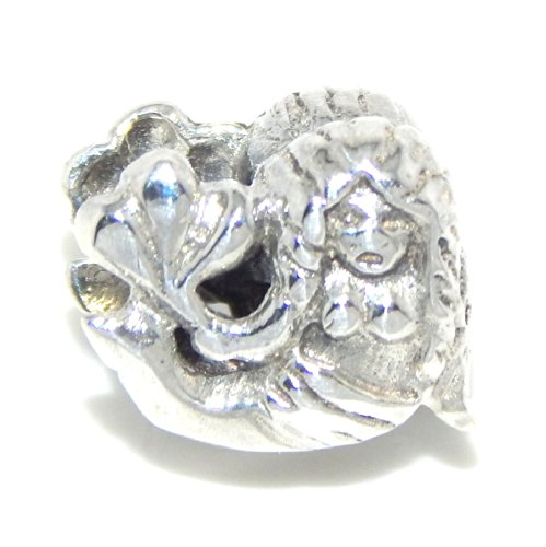 """Pro Jewelry .925 Sterling Silver """"Mermaid"""" Charm Bead for Snake Chain Charm Bracelets 0293"""