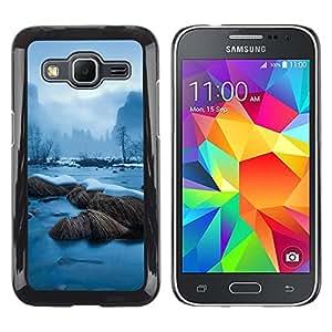 LECELL--Funda protectora / Cubierta / Piel For Samsung Galaxy Core Prime -- Snowy River --