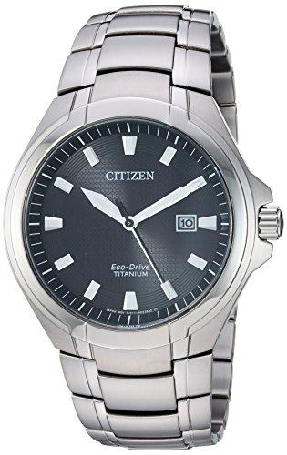 Citizen Men's Eco-Drive Quartz Titanium Strap, Silver, 25.5 Casual Watch (Model: BM7431-51E)