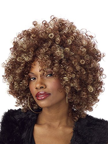 California Costumes Women's Fine Foxy Fro Wig,Brown,One Size ()