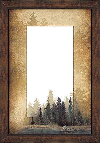 Misty Forest Large Decorative Mirror by Bob (Dark Oak Mirror)