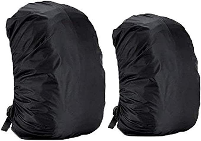 Dricar 2 * Fundas Cubiertas de mochila Protector de Lluvia Impermeable, Cubierta Impermeable para Mochila 35L y 45L - Negro: Amazon.es: Deportes y aire libre