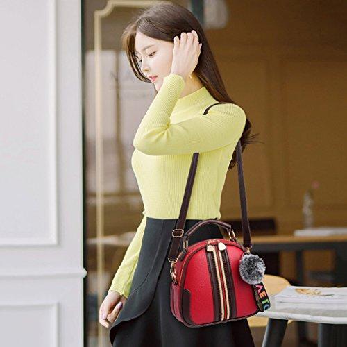Jaune populaire Taille Shang Rouge A femme le Sac cuir pour Épaule Dolce Sac en Moda bandoulière plus Pu Couleur à TwqEaPH