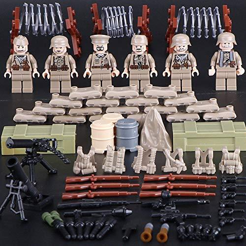 FidgetGear 6pcs/Set Cartoon Military Soldiers Building Blocks Sets Models Bricks Toys from FidgetGear
