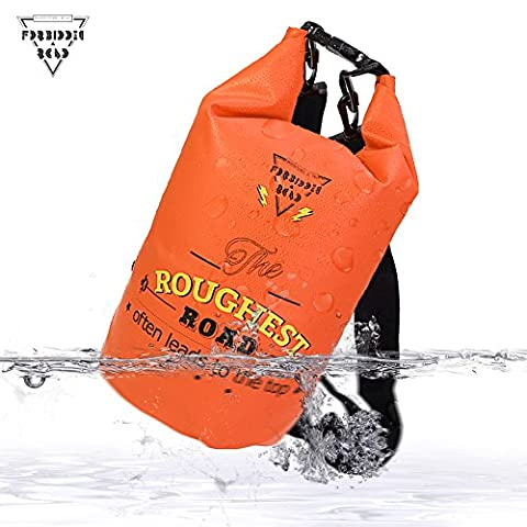 Forbidden Road 2L 5L 10L 15L 20L Waterproof Dry Bag ( 8 Colors) Dry Sack Roll Top Dry Compression Sack Keeps Gear Dry for Kayaking Boating Camping Canoeing Fishing Skiing - Outdoor Gear