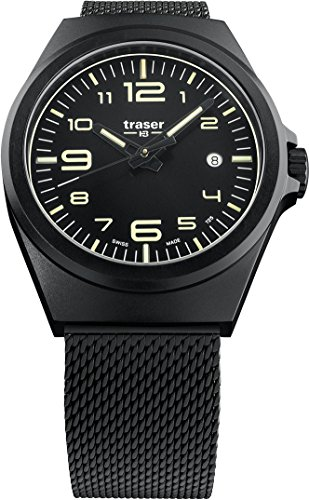 traser P59 Essential M Black Milanese PVD-Coated