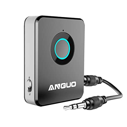 Bluetooth Transmitter and Receiver, ANGUO 2-in-1 3 5mm Audio Wireless  Adapter for Speaker Home Stereo System