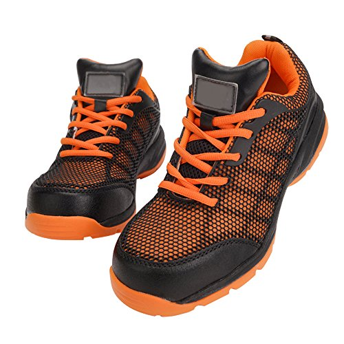 Optimal Women's Safety Shoes Work Shoes Protect Toe Shoes … Orange Black by Optimal Product (Image #5)
