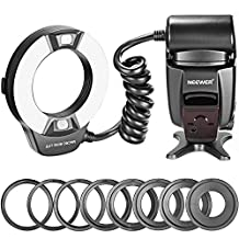 Neewer® Close-up NW-14EXM Universal LED Macro Ring Flash Light with AF Assist Lamp for Canon Nikon Sony Panasonic Olympus Fujifilm Pentax and Other DSLR Cameras with Single-contact Hot Shoe