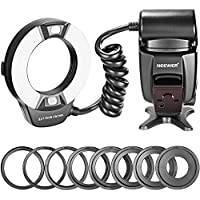 Neewer Close-up NW-14EXM Universal LED Macro Ring Flash Light with AF Assist Lamp for Canon Nikon Sony Panasonic Olympus Fujifilm Pentax and Other DSLR Cameras with Single-contact Hot Shoe