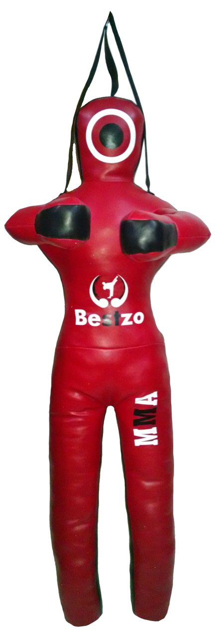 bestzo MMA Jiu Jitsu柔道Punching Bag GrapplingダミーレッドStanding position-unfilled 70 inches (6 ft) Canvas Red B01MCY5OIA