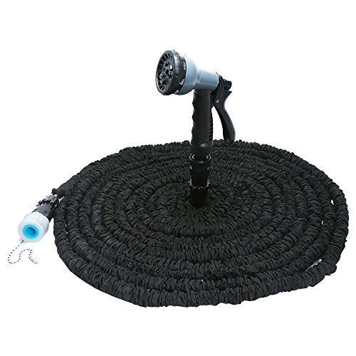 BADASS SHARKS 25FT-100FT Magic Flexible Garden Hose Expandable Watering Hose With Plastic Hose Telescopic Pipe With 8 in 1 Spray Gun (50FT, (Telescopic Spray)