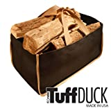 TuffDuck Weatherproof Carryall Junior Size – BLACK with KHAKI TRIM (8-12) – feature easy grip handles, rot-proof and stain-resistant fabric, and heavy-duty double stitching. Made in the USA., Bags Central