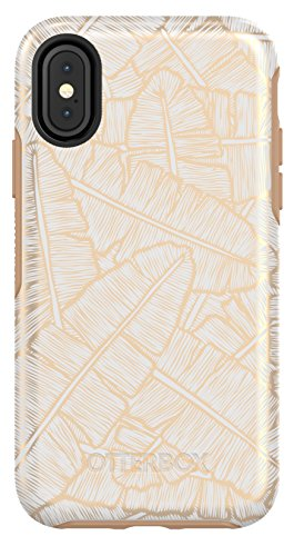 OtterBox SYMMETRY SERIES Case for iPhone Xs & iPhone X - Retail Packaging - THROWING SHADE (WHTE/ROASTED TAN/THROW SHADE)