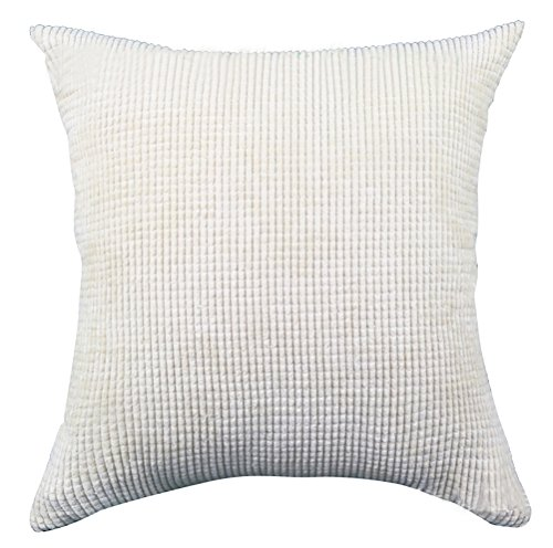 Square/Rectangle Solid Pinkycolor Printed Cushion Cover ChezMax Corduroy Plaid Throw Pillow Case Sham Slipover Pillowslip Pillowcase For Club Pub Coffee House Bar Sofa Chair Couch