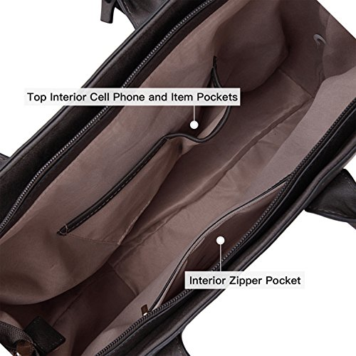 gray Purse Handbags Large Satchel Extra Padlock Leather Strap Tote Designer Removable Shoulder PwTUZAq