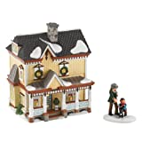 Department 56 New England Village Lakeshore Holiday House 2011 Annual Holiday Set with Accessory
