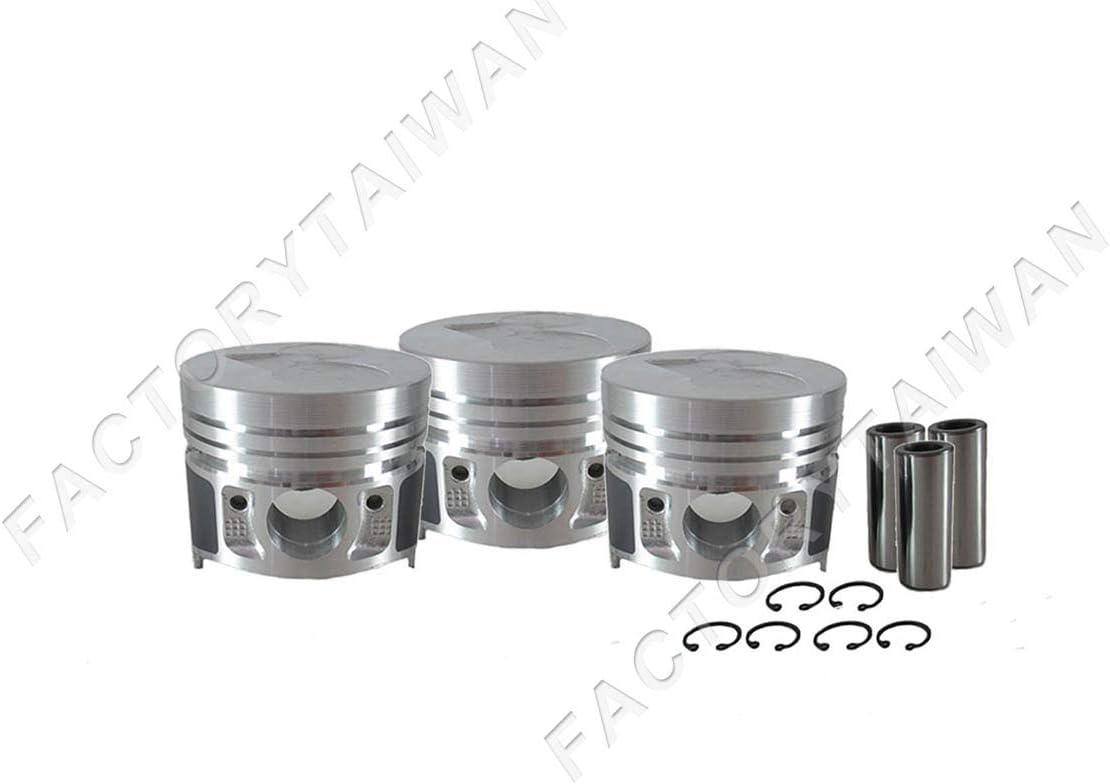 Pistons Set STD 67mm for Kubota D722 100/% Taiwan Made x 3 PCS