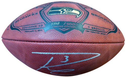 Russell Wilson Signed Limited Edition Super Bowl Leather Football Seattle Seahawks RW - Autographed NFL Footballs