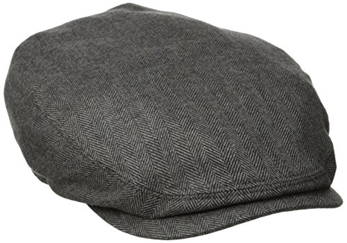 Stetson Men's Cashmere Silk Blend Ivy Cap with Lining, Gray, Large by Stetson