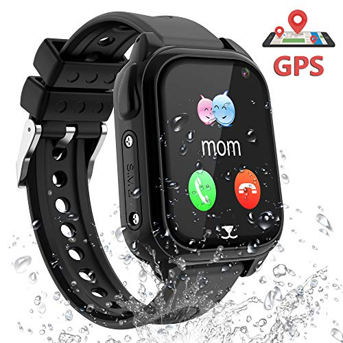 PTHTECHUS Smart Watch for Kids GPS Tracker - Boys  Girls IP67 Waterproof Smartwatch Phone SOS Alarm Clock Camera Games Sports Watches for Students Cellphone Watch Children Birthday Gifts best to buy
