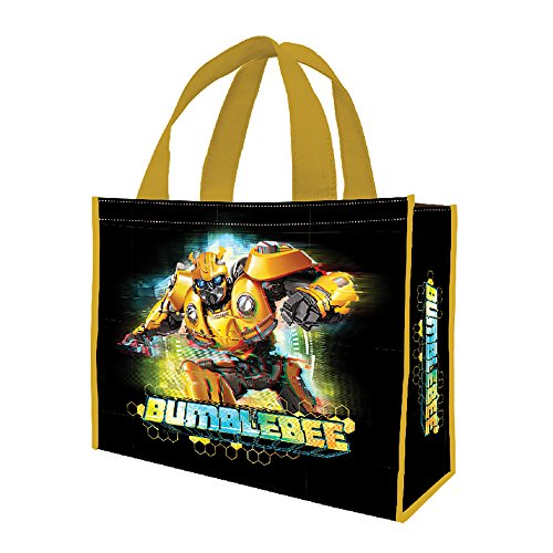 (Vandor 56254 Transformers Bumblebee Large Recycled Shopper Tote, 16 x 6 x 12 Inches, Black/Yellow)