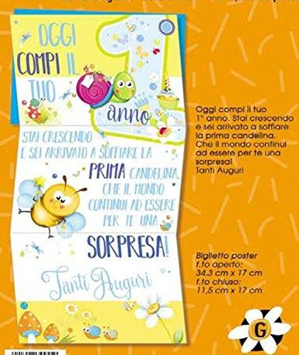 Tarjeta Felicitación cumpleaños 1 año Niño Allegro Diploma ...