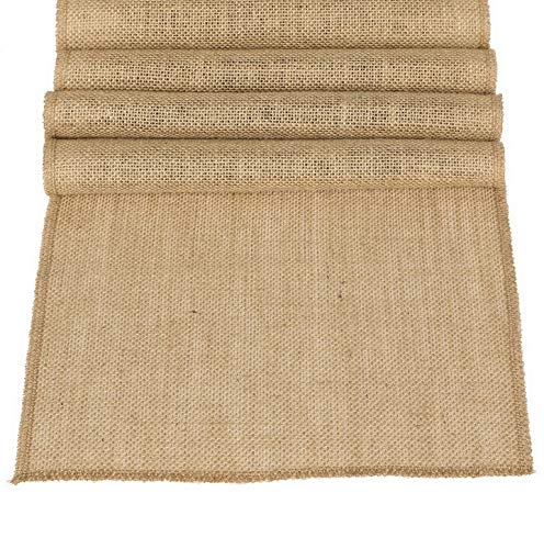 Kaputar 12 x 108 Inches Burlap Table Runner Jute Spring Summer Easter Decoration Country Rustic Decorations Farmhouse Kitchen Decor Woo Bridal Shower Decor | Model WDDNG -95812×108-A