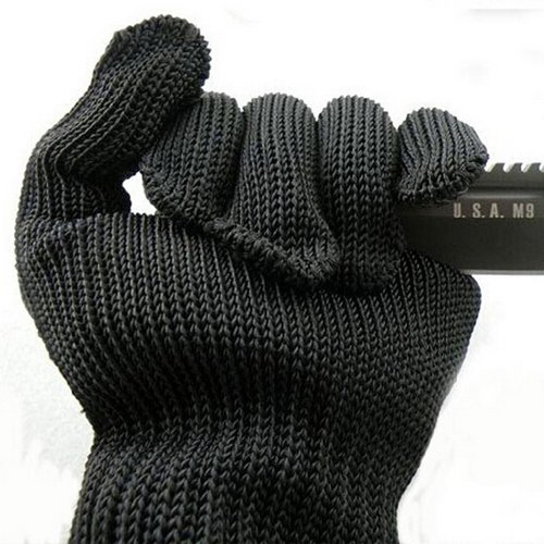 1 Pair kevlar Gloves Proof Protect Stainless Steel Wire Safety Gloves Cut Metal Mesh Butcher Anti-cutting breathable Work Gloves ()