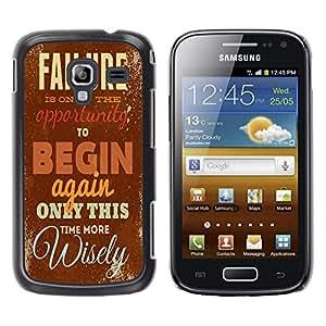 Dragon Case - FOR Samsung Galaxy Ace 2 - only this time more wisely - Caja protectora de pl??stico duro de la cubierta Dise?¡Ào Slim Fit