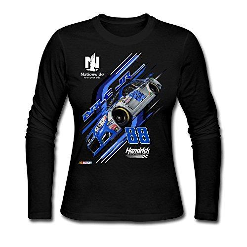 LJT Women's Hendrick Motorsports Team Dale Earnhardt JR Long Sleeve T Shirt