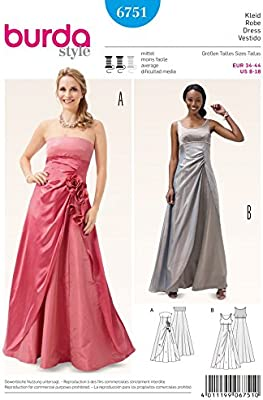 Burda Ladies Sewing Pattern 6751 Special Occasion Evening