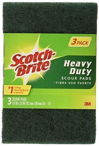 Scotch-Brite 051141411040 Heavy Duty Scour Pad, 18 Count