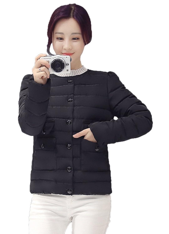 Smile YKK Womens Cotton Down Coat Parka Jacket Ultra light Weight Outwear