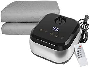 Water Heated Mattress Pad,Fencia Home Water Heated Mattress Topper,Touch Screen Remote Control Heated Blanket Soft Comfort,Safe & Radiation-Free,Sleep Enhancement - US Shipping (Queen Size 60