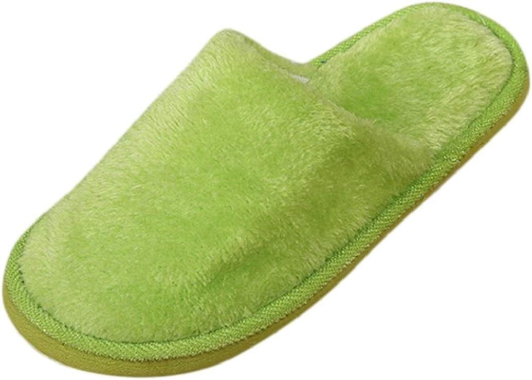 Women Men Warm Home Plush Soft Slippers Indoors Anti-slip Floor Bedroom Shoes