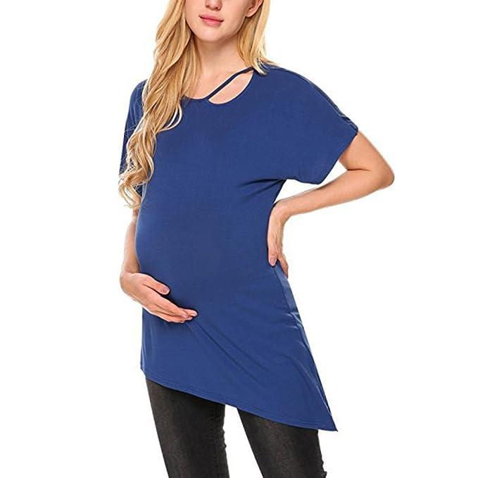 WEIMEITE Mujeres Embarazadas Camiseta de Maternidad Mujeres Ropa Embarazada Top Blusa: Amazon.es: Ropa y accesorios