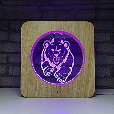 USB alimentado decorativo Polaris 3D Illusion Madera Luz nocturna ...