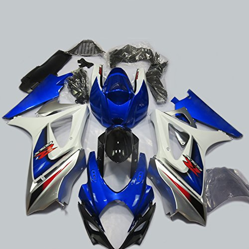 ABS Injection Molding - OEM Style Blue Painted With Graphic Fairing Kit for SUZUKI GSXR 1000 K7 (One Industries Suzuki Graphics)