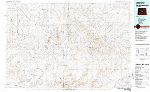 Moonstone Saddle - YellowMaps Rattlesnake Hills WY topo map, 1:100000 Scale, 30 X 60 Minute, Historical, 1981, Updated 1981, 23.9 x 39.1 in - Tyvek